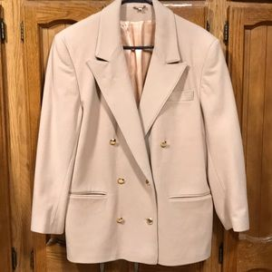 Wool/cashmere blend jacket